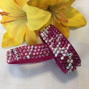 Jewelry - Rose Swarovski Crystal / Rhinestone Bracelet Set